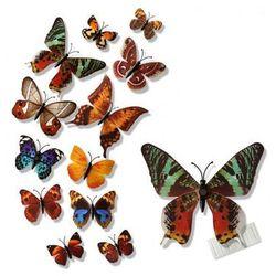 Ozdobne motylki kolorowe - 11 x 9 cm - 12 szt.