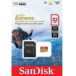 SANDISK EXTREME microSDHC 32 GB 100/60 MB/s A1 C10 V30 UHS-I U3 - GoPro