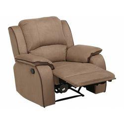 Fotel z funkcją relaks z mikrofibry HERNANI - Taupe