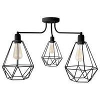Lampy sufitowe, Żyrandol KARO 3xE27/60W/230V czarny
