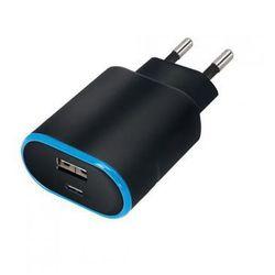 Ładowarka sieciowa Forever TC-03 type-C + USB 3,1 A czarna