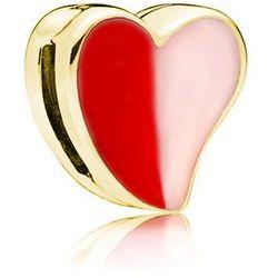 Pozłacany srebrny charms pandora koralik reflexions serce serduszko heart srebro 925 BEAD191Y