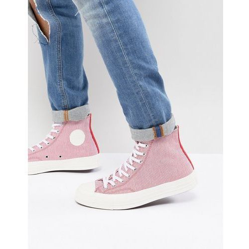 Męskie obuwie sportowe, Converse Chuck Taylor All Star '70 Hi Plimsolls In Red Stripe 161375C - Red