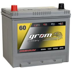 Akumulator GROM Premium 60Ah 520A EN Japan Lewy Plus DTR