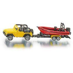 Siku, model Jeep z łodzią
