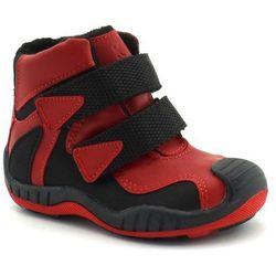 Buty zimowe dla dzieci marki Kornecki 06385 - Czerwony ||Czarny