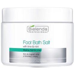 Bielenda Professional FOOT BATH SALT WITH LIME & MINT Sól do kąpieli stóp z limonką i miętą