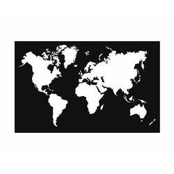 Metalowa dekoracja ścienna Mapa duża