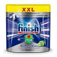 Kostki do zmywarek, FINISH Powerball Quantum Max tabletki do mycia naczyń w zmywarkach Apple Lime Blast 45szt