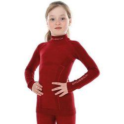 Bluza Termoaktywna Junior Brubeck Active Wool LS13690 Bordowa