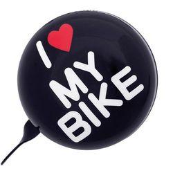 URBAN PROOF Ding Dong Dzwonek rowerowy 8cm, i love my bike black 2019 Dzwonki Przy złożeniu zamówienia do godziny 16 ( od Pon. do Pt., wszystkie metody płatności z wyjątkiem przelewu bankowego), wysyłka odbędzie się tego samego dnia.