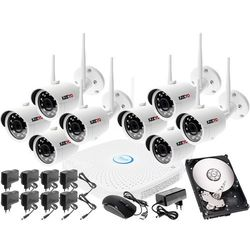 Monitoringu bezprzewodowy zestaw kamery zewnętrzne IP HD WIFI IP + Rejestrator sieciowy 8 kanałowy IP + Dysk 1TB + Akcesoria