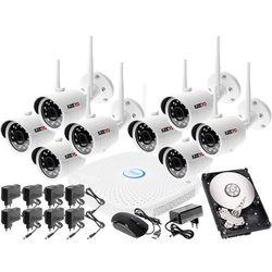 Monitoringu bezprzewodowy zestaw kamery zewnętrzne IP HD WIFI IP + Rejestrator sieciowy 8 kanałowy IP + Dysk 500GB + Akcesoria