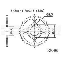 Zębatka tylna stalowa JT 50-32096-24, 24Z, rozmiar 520 2302193 Suzuki LT 80