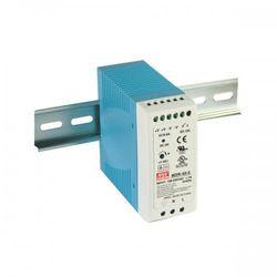 Zasilacz impulsowy na szynę DIN Uwe: 100-240V AC, Uwy: 24V DC, 24-30V DC, Iwy: 0-1,7A Moc: 40W MDR-40-24