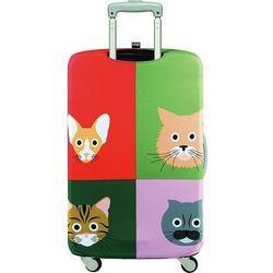Pokrowiec na walizkę LOQI Stephen Cheetham Cats