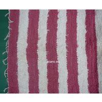 Chodniki, Chodnik bawełniany ręcznie tkany 65x150 cm różowo-ecru (k-24)