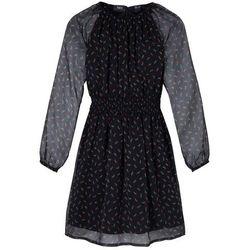 Sukienka imprezowa bonprix czarny z nadrukiem