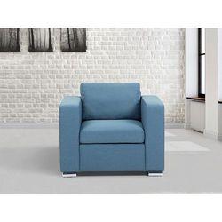 Fotel niebieski - Fotel z podłokietnikami - Fotel tapicerowany - HELSINKI