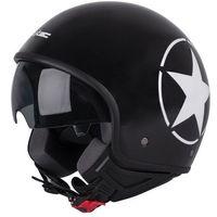 Kaski motocyklowe, Kask motocyklowy otwarty na skuter W-TEC FS-710S Revolt Black, Czarny z gwiazdą, XS (53-54)