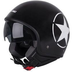 Kask motocyklowy otwarty na skuter W-TEC FS-710S Revolt Black, Czarny z gwiazdą, XS (53-54)