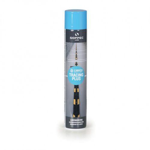 Farby, Farba w sprayu TRACING PLUS do malowania linii i pasów, 750 ml, niebieska