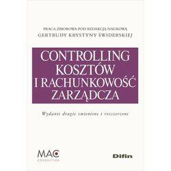 Controlling i rachunkowość zarządcza kosztów - 35% rabatu na drugą książkę! (opr. miękka)