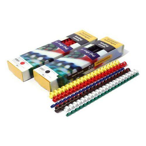 Grzbiety do bindownic, Grzbiety do bindowania plastikowe, białe, 28,5 mm, 50 sztuk, oprawa do 270 kartek - Super Ceny - Rabaty - Autoryzowana dystrybucja - Szybka dostawa - Hurt