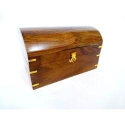 Szkatułka drewniana z półokrągłym topem MIS-0422