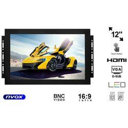 "NVOX OP1211T Monitor dotykowy open frame LED 12"" z wejściem VGA HDMI BNC"