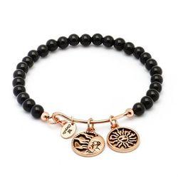 Biżuteria Chrysalis Bransoletka Tranquility Strength Black CRBH0105RG