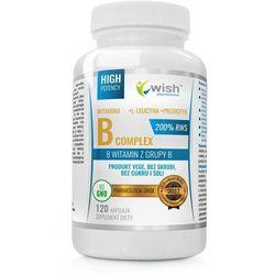 Witamian B Complex 200% RWS B1 B2 B3 B5 B6 B7 B9 B12 + Probiotyk 120kapsułek