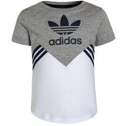 adidas Originals Tshirt z nadrukiem medium grey heather/white/collegiate navy