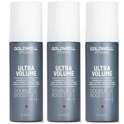 Goldwell StyleSign Ultra Volume Double Boost | Zestaw: spray zwiększający objętość 3x200ml