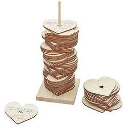 Księga gości weselnych - Stojak z drewnianymi sercami