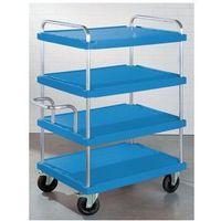 Wózki i stoły narzędziowe, Wózek piętrowy do dużych obciążeń,dł. x szer. 900 x 600 mm, nośność 500 kg