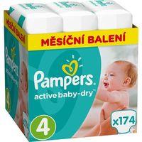 Pieluchy jednorazowe, Pampers Pieluchy Active Baby 4 Maxi (8-14 kg) Miesięczny zapas- 174 szt.