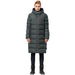 Płaszcz puchowy damski CRYSTAL PALACE COAT greenish grey - XL