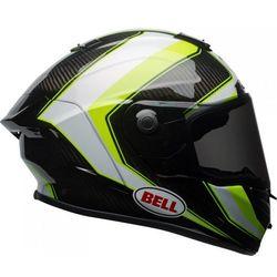 BELL RACE SECTOR WHITE/HI VIZ GREEN Kask integralny