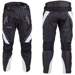 Damskie spodnie motocyklowe W-TEC Kaajla NF-2683, Czarno-biały, XL