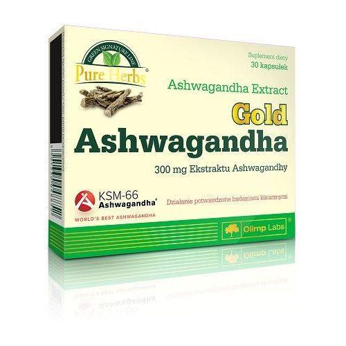 Preparaty ziołowe, Olimp Ashwagandha Gold 30 kaps. Relaksuje Wzmacnia organizm 048852