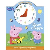 Książki dla dzieci, Świnka Peppa Książka z zegarem Dzień z Peppą - Praca zbiorowa (opr. kartonowa)
