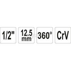 """Kątomierz klucza dynamometrycznego 1/2"""" 360° / YT-0593 / YATO - ZYSKAJ RABAT 30 ZŁ"""