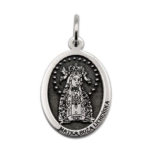 Pozostała biżuteria, Medalik srebrny z wizerunkiem matki bożej licheńskiej med-mbli-01