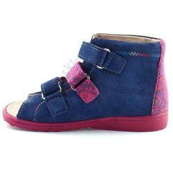Dziecięce buty profilaktyczne Dawid 1041 - Różowy   Śliwkowy