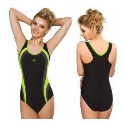 GWINNER Strój kąpielowy damski jednoczęściowy (czarny/grafit/zielony) (GW10214/2)