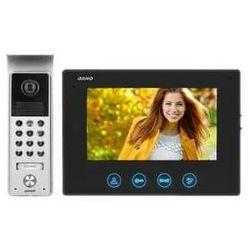 """Zestaw wideodomofonowy Orno Ceres OR-VID-ME-1056/B bezsłuchawkowy LCD 7"""" z szyfratorem czarny"""