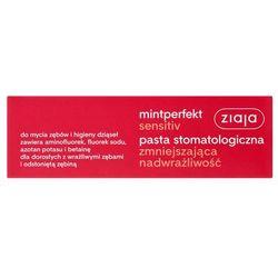 Ziaja Mintperfekt Pasta do zębów Sensitive zmniejszająca nadwrażliwość 75 ml Darmowy odbiór w 21 miastach!