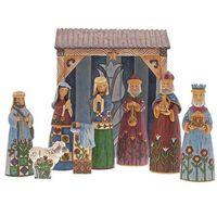 Ozdoby świąteczne, Szopka 9 figur Folklore Nativity Nine Piece Set 6001441 Jim Shore figurka ozdoba świąteczna