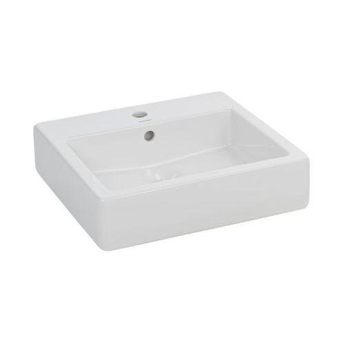 Umywalki, Vero, Umywalka, kolor: Biały, 1 przygotowany otwór na baterię, 500 x 470 mm, 0454500000, Duravit